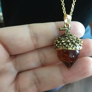 Jewelry - Charmed tv series Acorn glass necklace